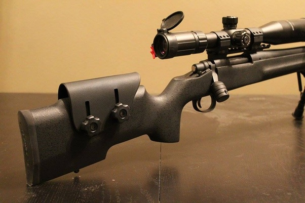 What does cheekpad do on a sniper rifle in real life? - Quora
