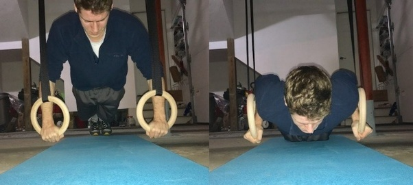 ring  push ups for female beginners at home