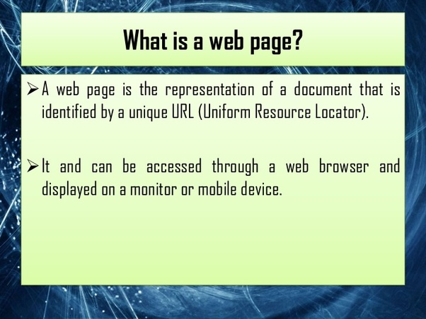What Is Webpage?