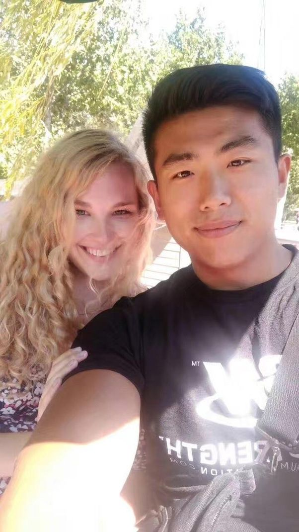 Chinese girl white man
