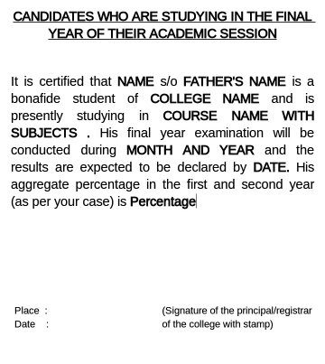 Request Letter Format Bonafide Certificate. I have attached a look alike bonafide form  Have and get an idea of what it is like Is the certificate which required by final year