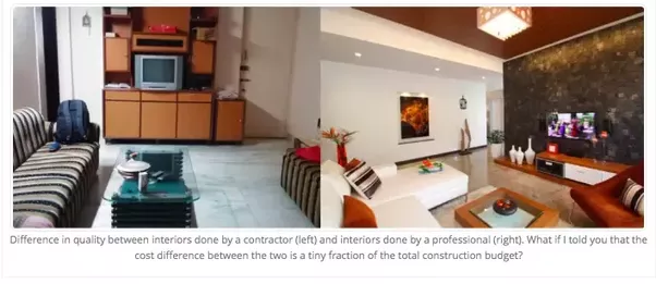 Further, There Is No Doubt Regarding The Difference In Quality Between A  House Designed By A Professional And A House Designed By A Contractor Or  Amateur, ...
