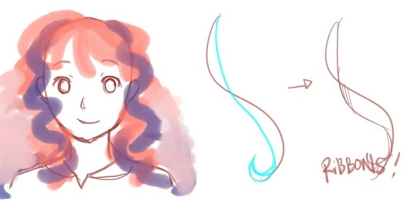 how to draw curly hair quora