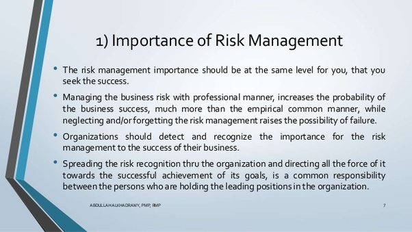 Why is risk management important? Quora
