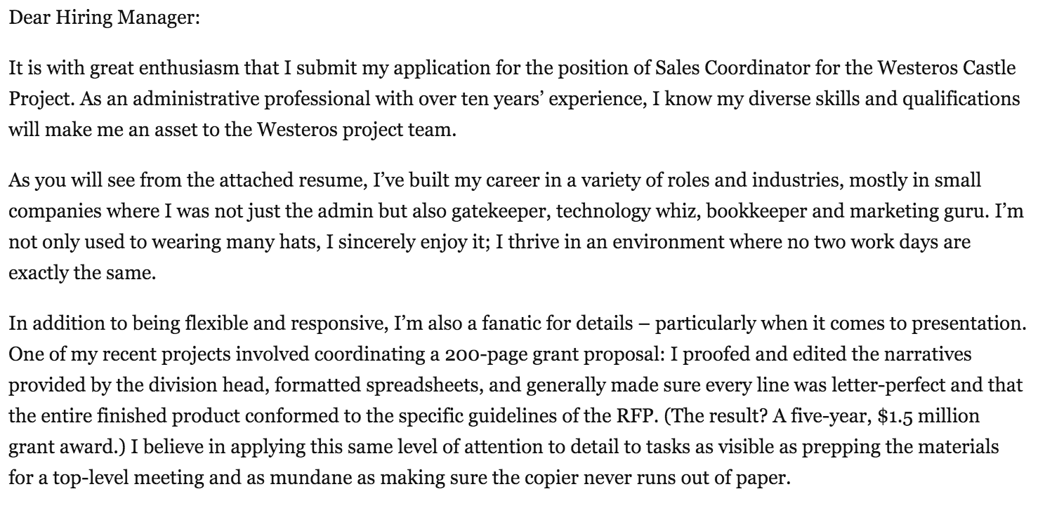 How to write a cover letter for a sales position - Quora