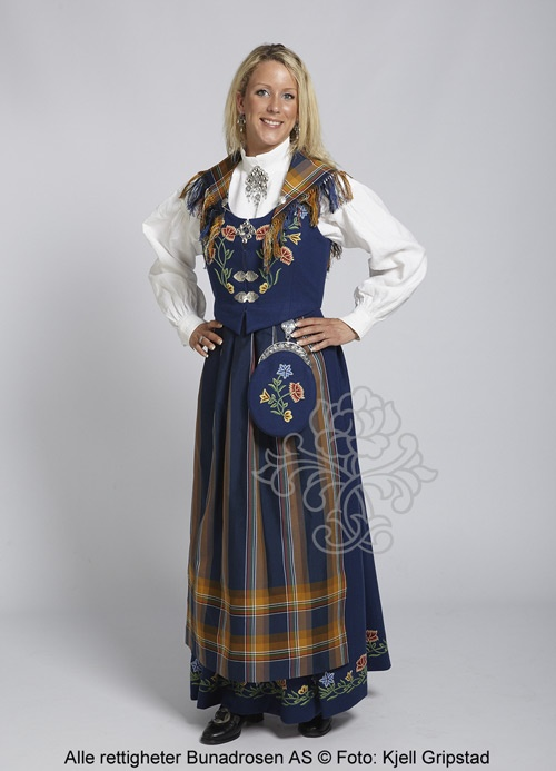 is traditional norwegian clothing generally more detailed and