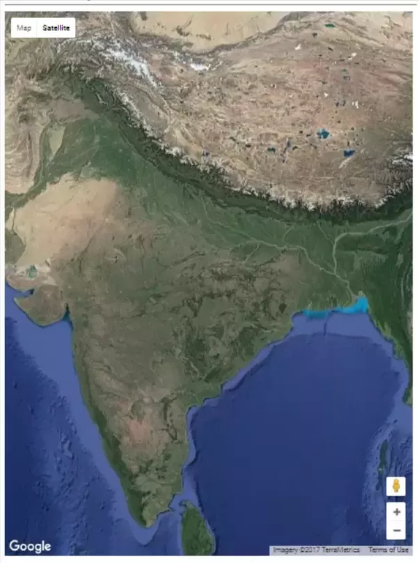 Where Can I Find A Map Of India That Has All Types Of Information - Google india satellite maps