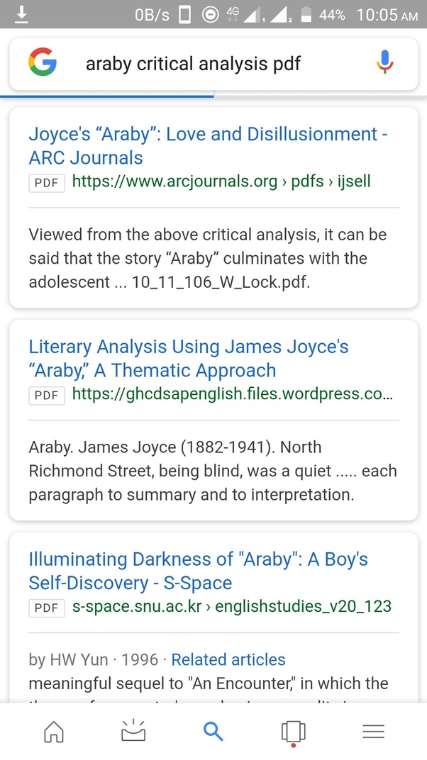 araby short story summary