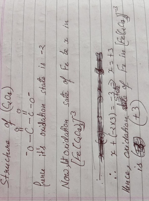 In FeC2O4, If Fe Has 2 Electrons And Oxidizes To +3 In Acidic Medium, Then  How Is The N Factor Of Fe +3? - Quora