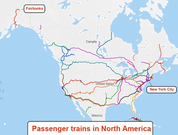 Canada Trains Map on