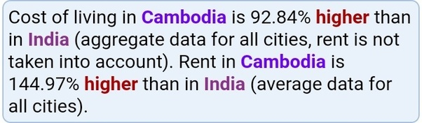 Is 7700 USD a month a good salary for a single person in Cambodia