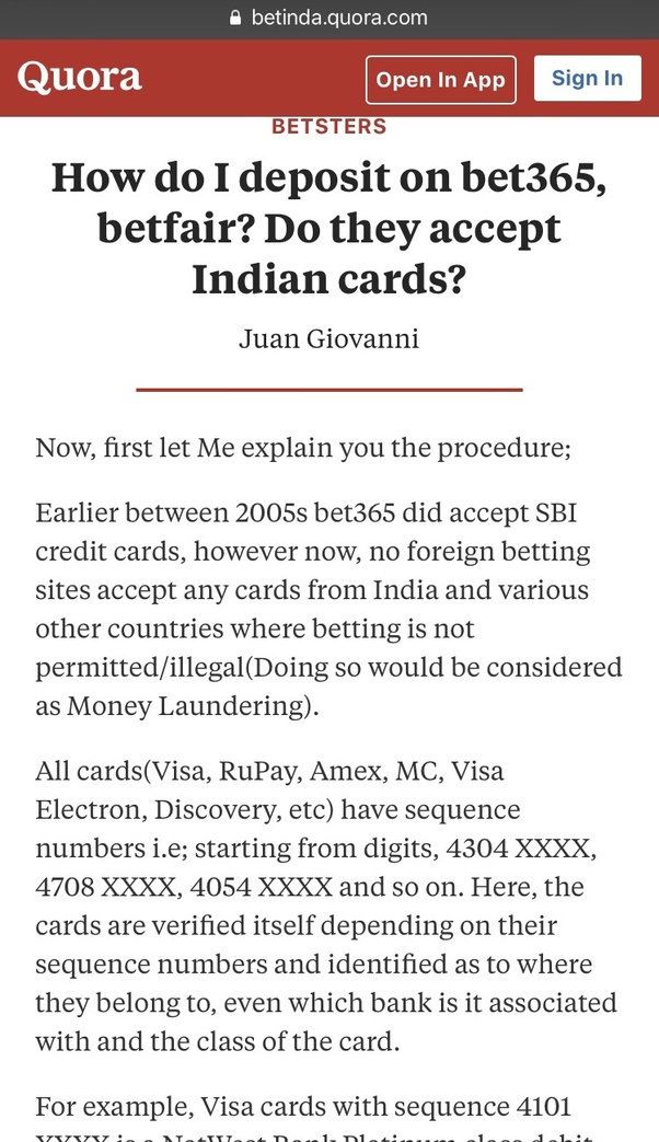 Can Indian citizens open accounts using Betfair or Bet365