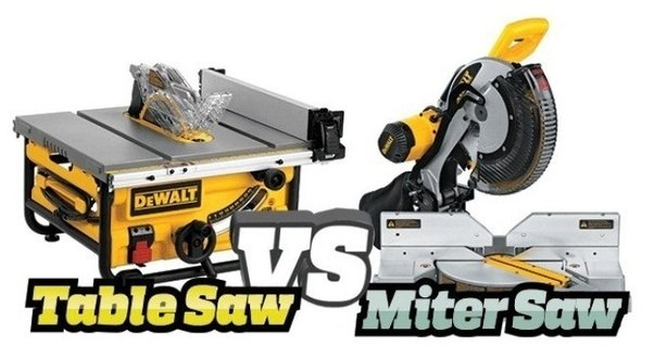 When do you use a miter saw versus a table saw quora image source table saw miter saw detailed comparison if you greentooth Image collections