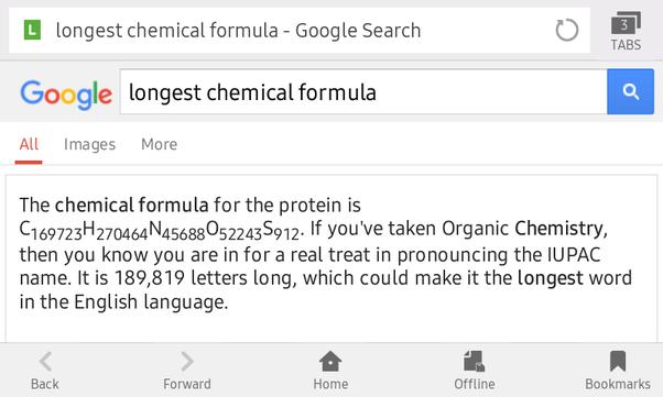What is the longest chemical formula quora 913 views view upvoters altavistaventures Images