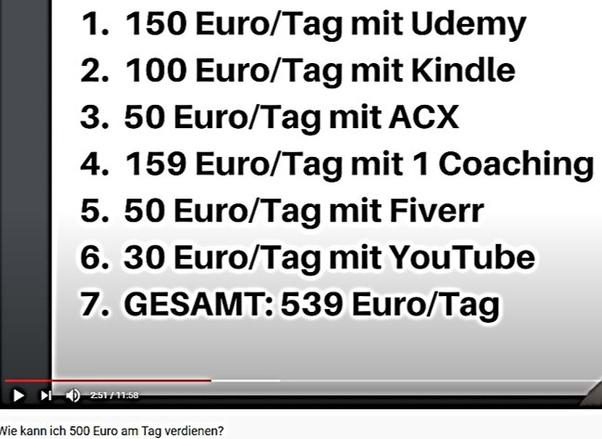 wie man 20 euro pro tag online verdient buch über binäre optionen