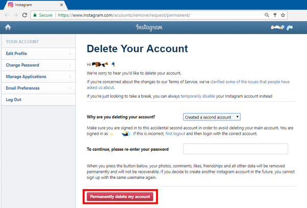 How to get a username from an account that has been deleted on youll lose a lot if you delete your account as shown above this is why its best to temporarily disable your account if in doubt ccuart Choice Image