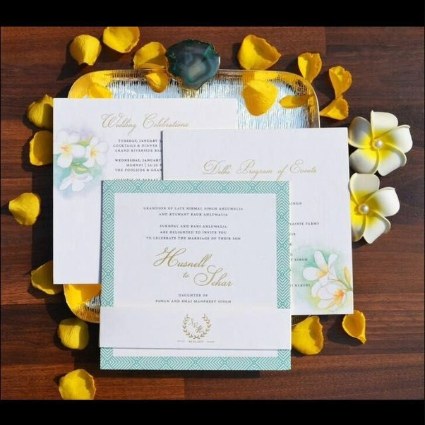 What Are Some Ideas For A Wedding Card In India Quora
