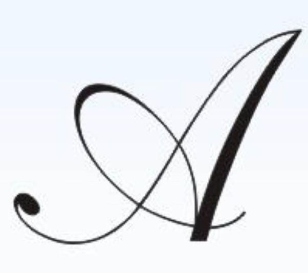 "What is the correct form of writing a capital ""a"" in cursive? - Quora"