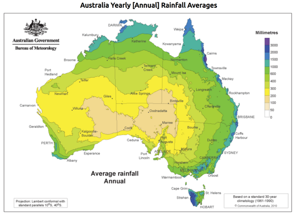 why is australia sparsely populated