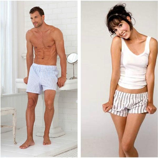 underwear Girls wearing boy shorts