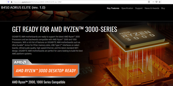 Does An R5 3600 Work With A Gigabyte B450 Aorus Elite Quora