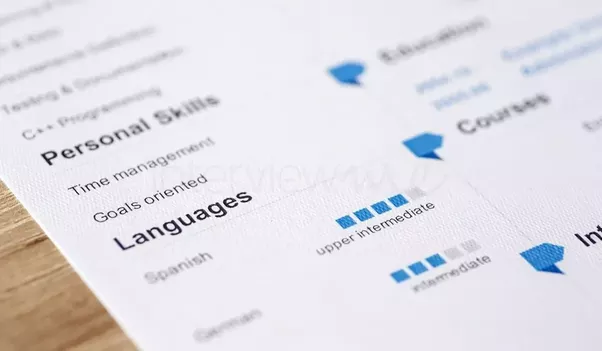finally if you only want to mention a language in passing you can use visual rating - Languages On Resume