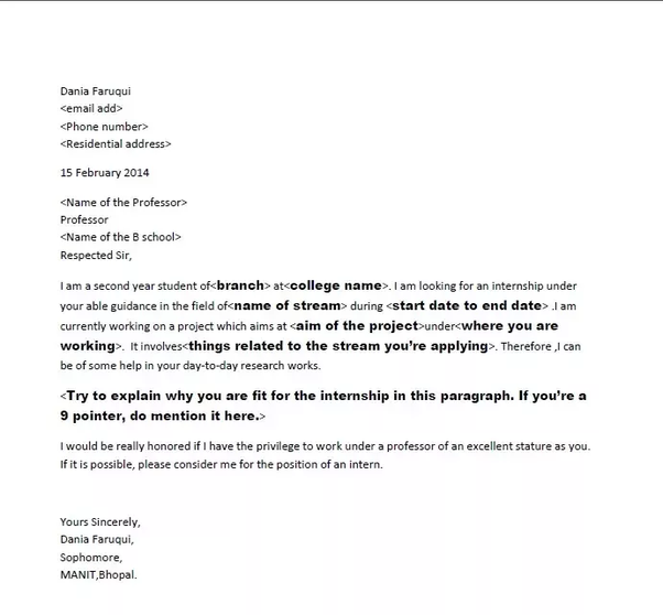 Cover Letter For Mba Summer Internship: How To Get An Internship At IIM A, B, Or C If I'm In My