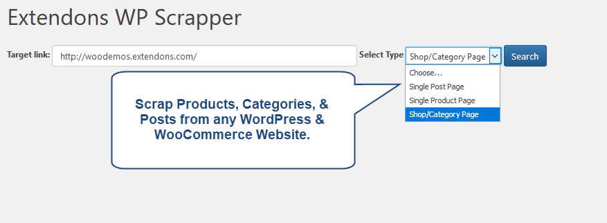 How to scrape products from others website in WooCommerce - Quora