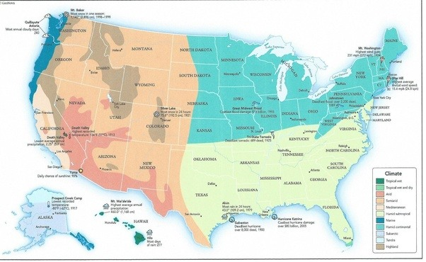 Why are states on the east coast of the USA so small in comparison