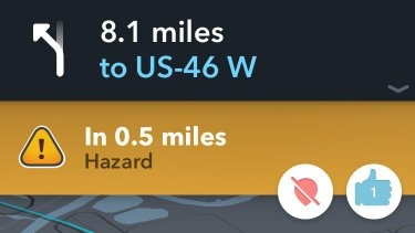When a Waze user reports a hazard, how do you confirm it