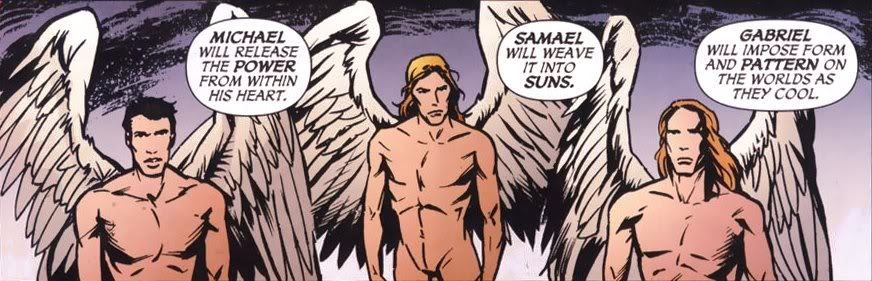 Which biblical figures, are Mazikeen and Amenadiel from the