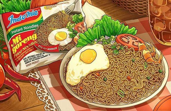 Seperti Apa Ilustrasi Makanan Indonesia Yang Menakjubkan Quora
