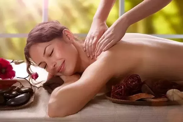 very hot sexy body massaged