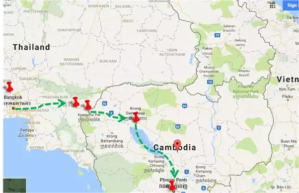 What Is The Cheapest And Fastest Way To Travel From Siem Reap To - Where is thailand located
