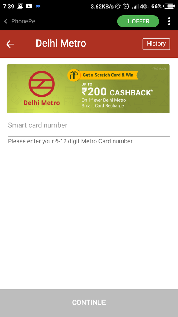 How to recharge my Delhi Metro smart card with PhonePe - Quora