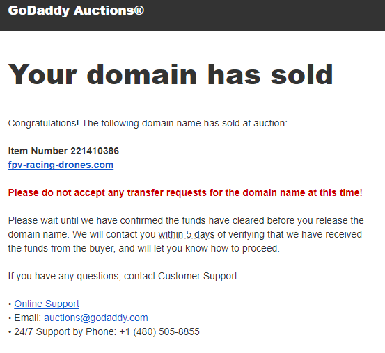 How do you sell a domain name