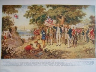 Seriously To Start At The Beginning Captain James Cook Of Royal Navy Claimed Most Australian Continent As New South Wales For Britain In