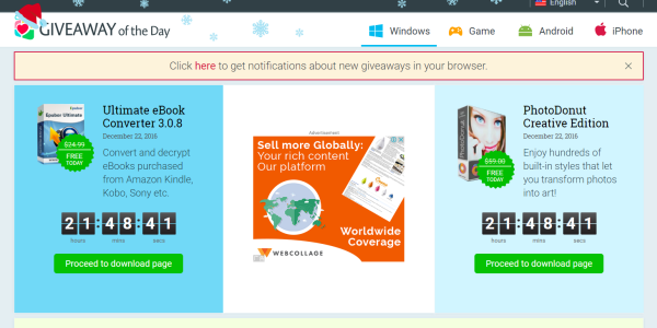 free software to run giveaway sites