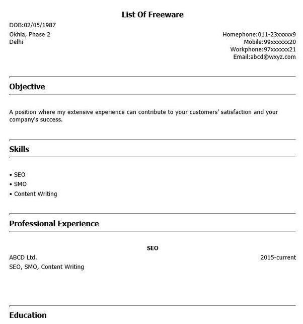 Which software will create creative resume? - Quora