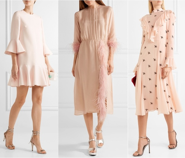 65d98dc30ac7 Metallics are classic   silver or pewter shoe colors look simply lovely  with a blush dress