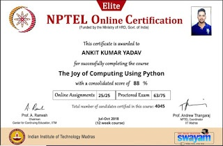 When will the results of NPTEL online certification courses