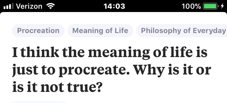 does life have meaning philosophy