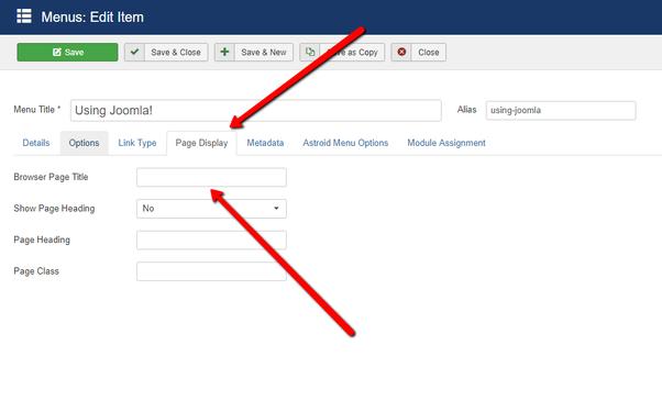 How to add Meta Title and Meta Descripition in Joomla - Quora