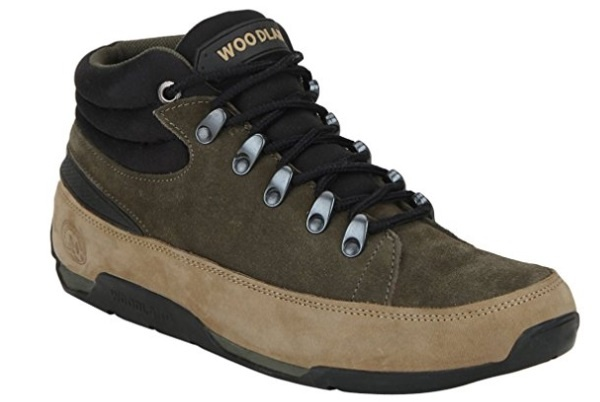 Woodland men's trekking shoes has the leather material. They are sleek and stylish leather boots are durable and suits well with the rocky terrains and all ...