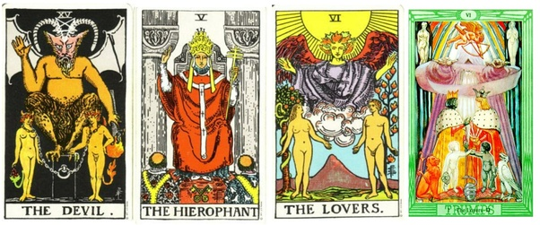 How would you interpret The Queen of Pentacles and The Devil coming