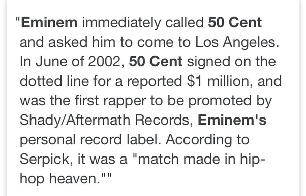 How did Eminem make 50 Cent? - Quora