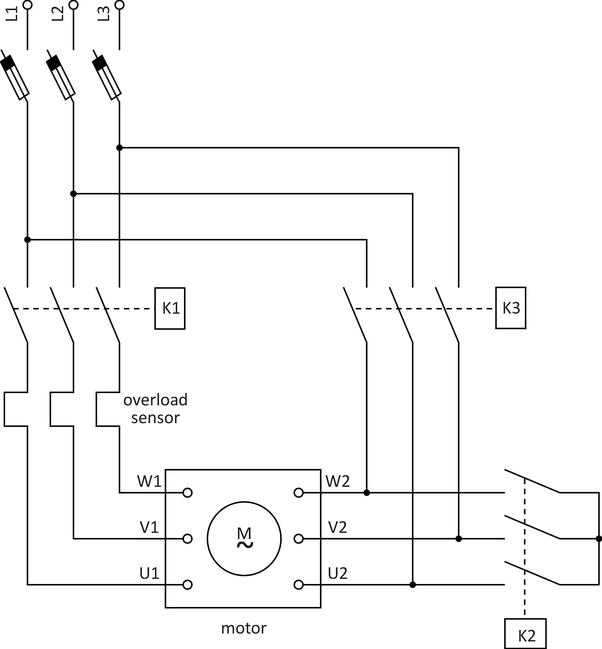 How to connect a three-phase induction motor to a star delta ...  Phase Star Delta Wiring Diagram on 3 phase wye transformer, wye-delta starter wiring diagram, control panel wiring diagram, ct meter wiring diagram, kib monitor panel wiring diagram,
