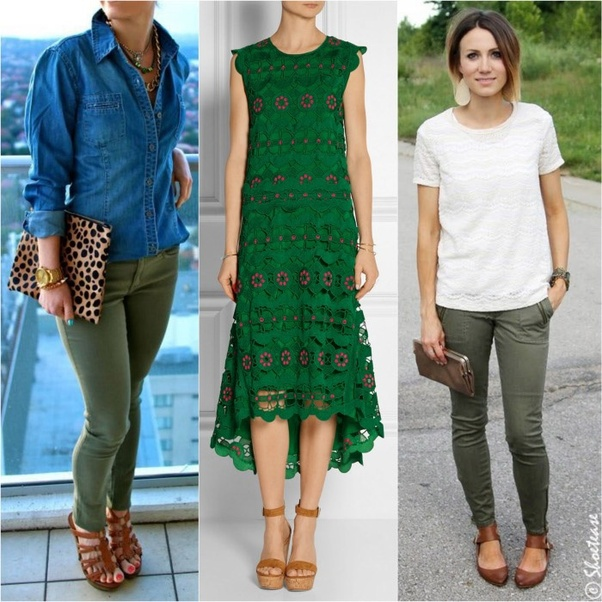 "5f47fddbd10d4 Another great shoe color to wear with green in order to create a more  laid-back   ""earthy"" feel"