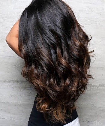 Which color looks good for balayage on dark hair? - Quora