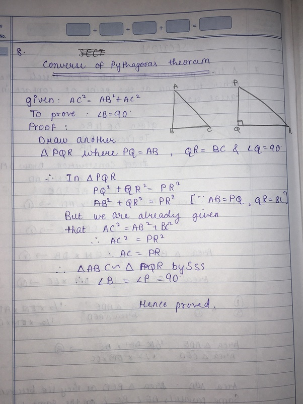 e77a6aac2adf What is the formula for the converse of the Pythagorean theorem  - Quora